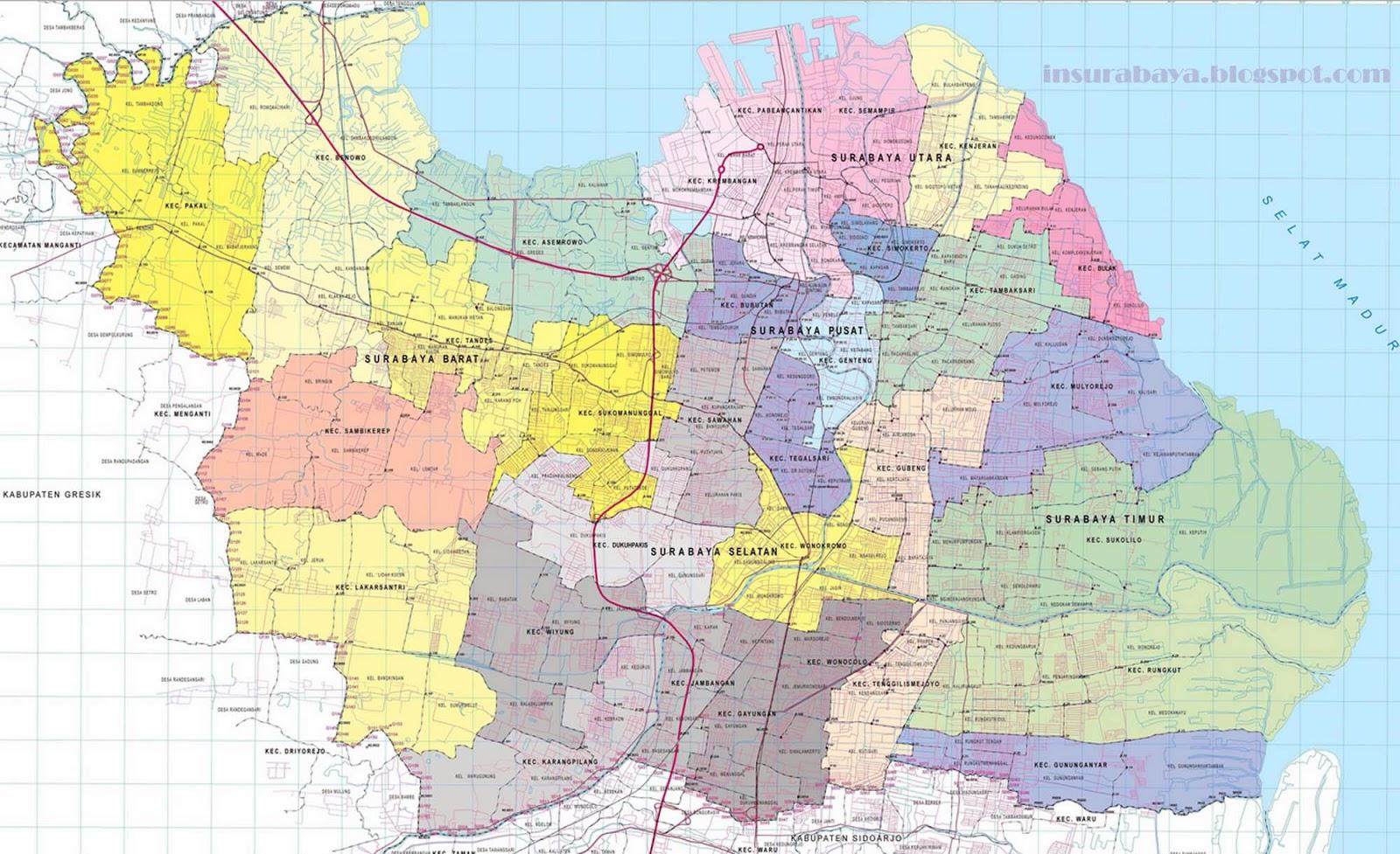 Peta Topografi Surabaya